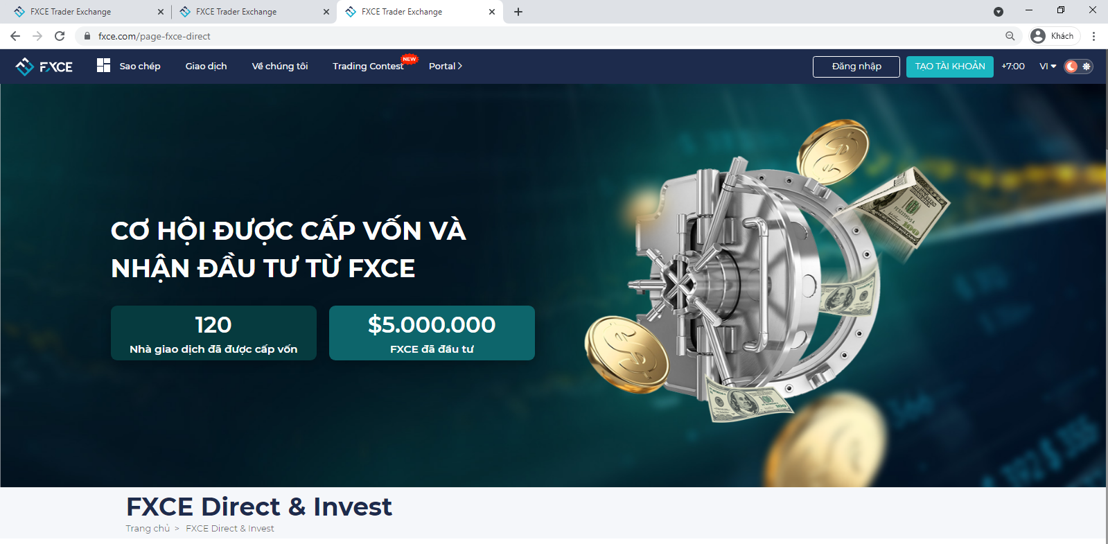 fxce direct and invest